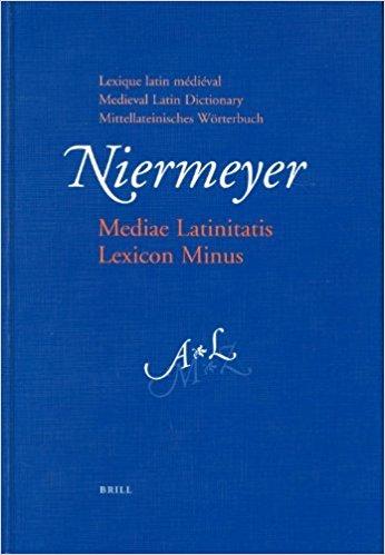 La copertina del Mediae Latinitatis Lexicon Minus