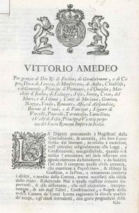 Editto di riorganizzazione della Camera dei conti - 7 gennaio 1720 (ASTo, Sezione Corte, Archivio di Corte, Materie giuridiche, Editti a stampa, reg. 1719 in 1720)