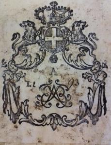 Etichetta della Biblioteca ducale